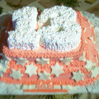 Ashley's Bday I am so proud of this cake, it's not the original cake my cousin wanted but I convinced her to choose it cause i really wanted to try...