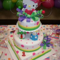 Hello Kitty Cake   this was a cake specially made for my little girl Valerie on her first birthday!!
