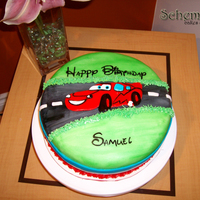 Car The Movie Cake   This was one of my first cakes, I really had a great time trying to get the car together!