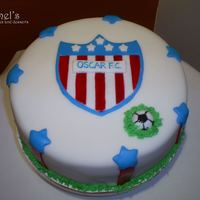Junior Cake this cake was made for a junior fan this team is from Barranquilla Colombia. was a 2 pound vanilla cake with vanilla butter icing