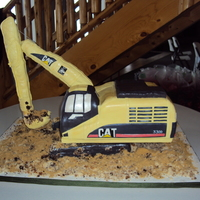 Moving Excavator!! HUGE excavator for a local compaines birthday/christmas party! and it moves!!!