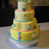 "Twins Cake Cake for new twins. ""Peapod"" on top inspired by Pink Cake Box. TFL!"