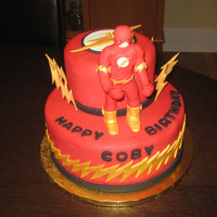 "D.c. Comics ""the Flash"" Birthday Cake"