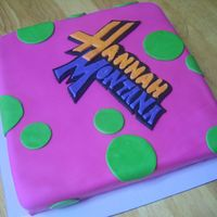 Hannah Montana This was a really fun cake! I had some MAJOR issues with the cake itself, even had to re-bake it. But the fondant was fun!