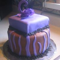Sisters Birthday Cake I needed the practice with MMF, so i made my sis's b-day cake! It was chocolate chocolate chip cake with cream cheese filling (SO good...