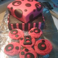 "The Brittany  Made this for my friends birthday. She said she wanted pink, black, polka dots, stripes and said ""Make it Brittany bright!"" (She..."