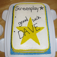 Movie Script This was one of two cakes that I made for a colleague who left to pen a screenplay for a major Hollywood motion picture. I only had a few...