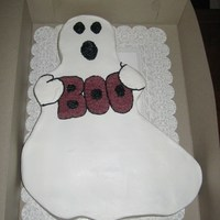 How You Boo'n?!!! Half sheet WASC with buttercream frosting. I made this cake for my daughters class for Halloween. That day I was watching a talk show based...