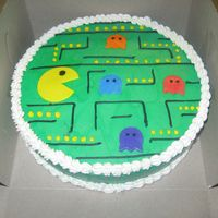 Pac Man Cakes This is another cake I made for my sister's 80's themed party.