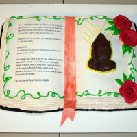 Bible Birthday Cake made this for my mother's 65th birthday (dec. 22) and she is such a blessing