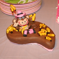 "Little Monkey Cake This was a personal (smash) cake for my grand-daughter's 1st birthday. Her mom calls her ""little monkey"" but her dad and I..."
