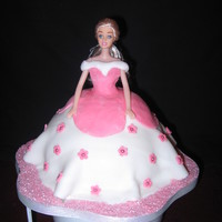 Doll Cake sponge cake made in a pyrex bowl and covered in fondent. i enjoyed making this cake