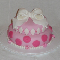 Pinkalicious!!!! Covered with homemade fondant, with fondant decorations and gumpaste bow! TFL!