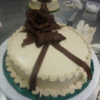 Final Cake At Toba Garrett's Class Mocha Amaretto BC with chocolate rose