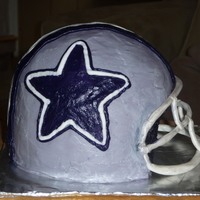 Dallas Cowboys Dallas Cowboys helmet cake