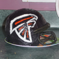 Atlanta Falcons Helmet My first helmet cake!!! Buttercream and gumpaste
