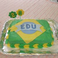 Brazil Cake a birthday cake for my husband.