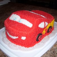 Lightning Mcqueen Lightning McQueen birthday cake for a 6 year old