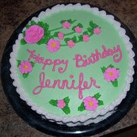 Birthday Cake With Pink Royal Icing Flowers Birthday cake with pink royal icing flowers