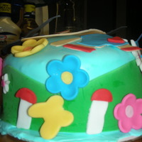 Ki-Lan Cake  Ki-Lan Birthday Cake for my youngest daughter. The cake is Banana Almond cake with Banana Icing covered in MMF.Thank you to angelfood and...