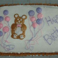 Teddy Bear Cake Teddy Bear Birthday Cake with buttercream icing.