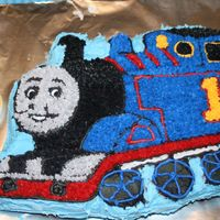 Thomas The Tank Engine I did this cake for my oldest son's third birthday!