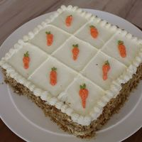 Carrot Cake With Creme Cheese My very first attemt to do a carrot cake with creme cheese frosting - am quite happy with the result evenhough the carrots did'nt turn...