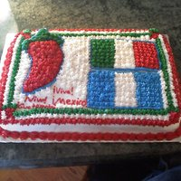 Mexico/guatemala Independence Day Cake VIVA MEXICO! Hi this is a cake I made for my Spanish 1 class. We are celebrating the Mexico/Guatemala Independence Day. It was sooooo much...