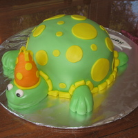 "For The Love Of Turtles! Birthday cake for my husband who loves turtles. It is inspired by the ""turtlemania"" cake on Charmaine's Pastry blog. It is..."