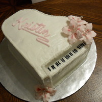 The Piano Cake My first piano cake. Thanks for looking.