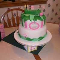 Pea In The Pod Shower Cake Chocolate cake w/ white chocolate buttercream & fondant. Green pea in a pod decorations.