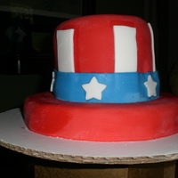 Uncle Sam Hat Cake Made this cake for a July 4th party. Very simple if looking for an easy starter cake.