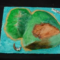 The Island Of Maui This 3D Maui cake was constructed using a 1/2 sheet cake carved and stacked iced with buttercream and covered with rolled fondant. I used...