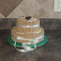 Pirouette This is my first pirouette cake. Bottom cake is chocolate cake covered and filled with caramel buttercream. The top cake is also a...