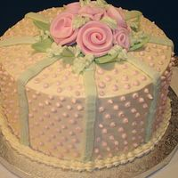Roses & Dots  I did this cake for a group of ladies who get together for a luncheon each time one of them has a birthday. The woman who ordered the cake...