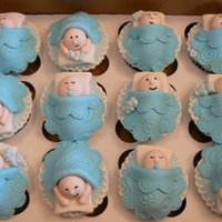 Sleeping Baby Cupcakes   Babies & blankets are made out of fondant