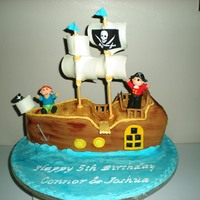 Pirate Ship pirate ship for 2 little harties who were 5