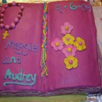 Bible Cake  Fun cake, if was my first carved cake, and I was actually really proud. I know the icing is a little crooked, the pages looked pretty cool...