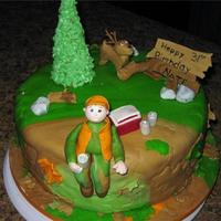 "Tell The Wife I'm ""hunting""  I am not fondant fabulous yet but this one turned out better than the last! All the figures are gumpast/fondant and mr deer's antler..."