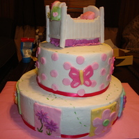 Trivoli Garden  This cake was made to match the JC Penney baby collection Trivoli GardenStill super new to the whole caking business but man is it...