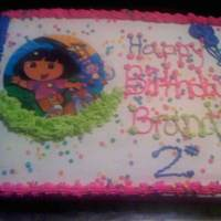Dora Cake dora cake with edible image with buttercream