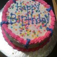 Buttercream Icing double layer cake with buttercream