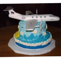 Usaf In Flight This was a just for fun cake for a friend of ours promotion in the USAF, he is a pilot. I didn't realize just how powerful that blue...