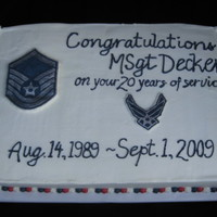 Usaf Retirement Cake First attempt at frozen buttercream transfer, I really like that method!