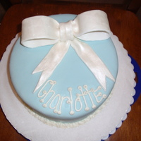 First Time Making Fondant Fondant bow painted with pearl luster dust