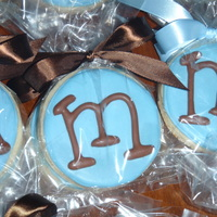 Monogram Cookies I made these as party favors for a baby shower