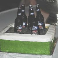 Beer Chest I stacked three sheet cakes. I used a foil cake pan slightly smaller than the cake and cut the center of the top layer out so that the pan...