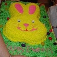 Bunny After placing the cake on the board, I brushed a thin coat of Karo syrup on the remaining surface of the board and sprinkled cocunut that I...