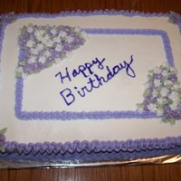 Happy Birthday Gluten free marbled sheet cake for a friend who likes purple