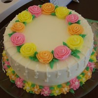 Drop Flower Cake I was doing a demo at Hobby Lobby and made one of the new cakes that will be taught with the new Wilton method instruction. We also did a...